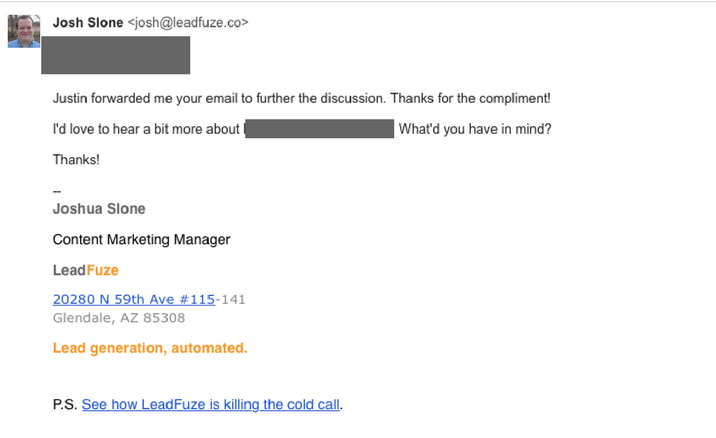 email response examples